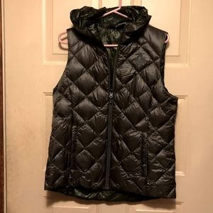 NWT Gerry Women's Down Reversible Hooded Camo Vest